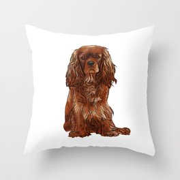 Cavalier King Charles Spaniel - Ruby Throw Pillow