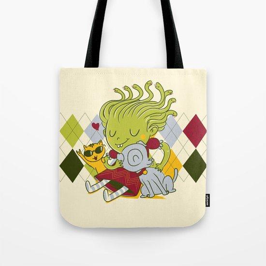 Medusa had a pet rock. Tote Bag