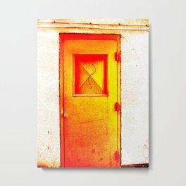 ? - Orange Metal Print