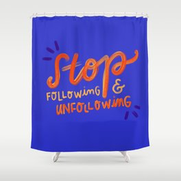 Unfollowing sheep Shower Curtain