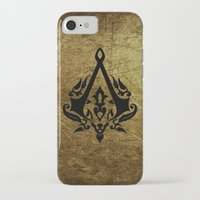 assassins creed iPhone & iPod Cases featuring Creed Assassins Grunge Logo by DavinciArt