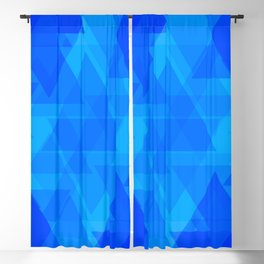 Bright blue and celestial triangles in the intersection and overlay. Blackout Curtain