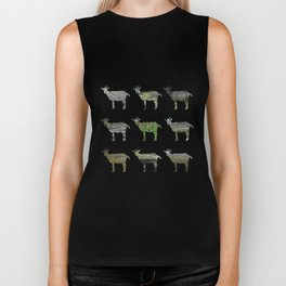 Ode to the Burren goats Biker Tank