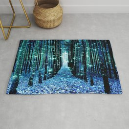 Magical Forest Teal Turquoise Rug