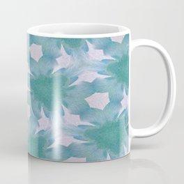 Geometric Floral Design - Blue Coffee Mug