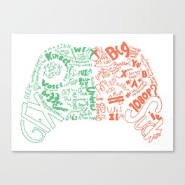 Controller Duality Canvas Print