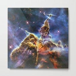 Carina Nebula Mystic Mountain Metal Print