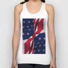 RED, WHITE AND BLUE Unisex Tank Top