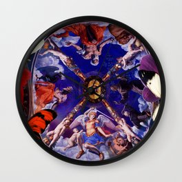 Butterflies in Cappella di Eleonora Wall Clock