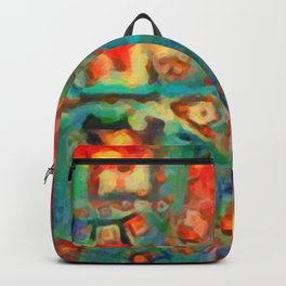 Painted Fractal Abstract Backpack