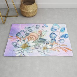 Snail and waterlily, Rug