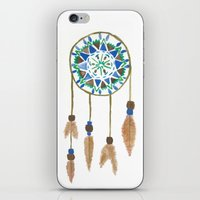 dream catcher iPhone & iPod Skins featuring Dream Catcher by Kayla Gordon