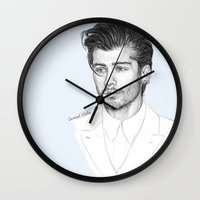 zayn Wall Clocks featuring Zayn sketch by Coconut Wishes
