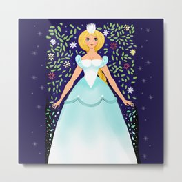 The Winter Fairy Brings The First Frost Metal Print