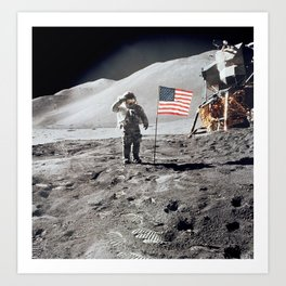 Apollo 15 - Military Salute Art Print