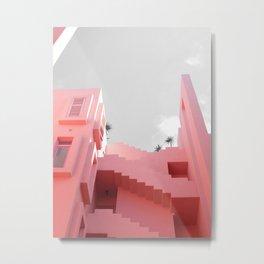 pink architecture Metal Print