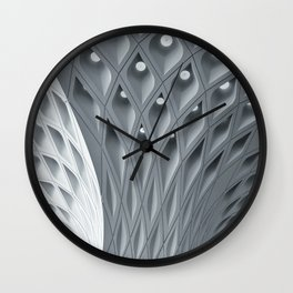 Monochrome Architectural Repeat Patter Wall Clock