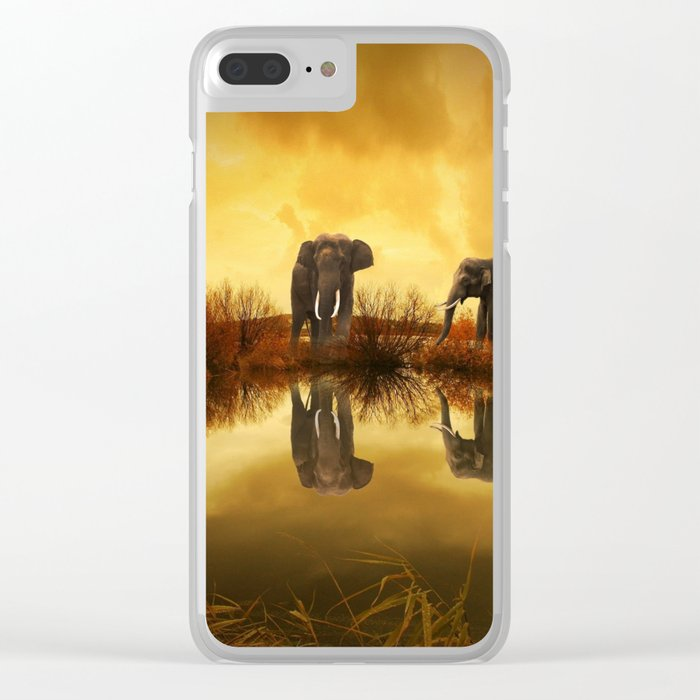 The Herd (Elephants) Clear iPhone Case