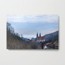 Basilica of Covadonga in the mountains, Spain Metal Print
