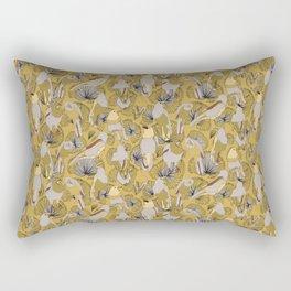 Birds of Prey in Yellow Rectangular Pillow