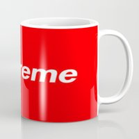 supreme Mugs featuring Supreme by Harry Martin