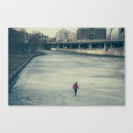 Stockholm Ice Walker Canvas Print
