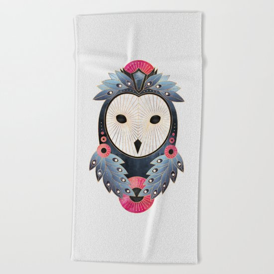 Owl 1 - Light Beach Towel