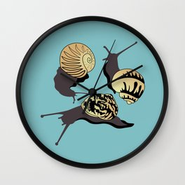 It's Hailing Snails Wall Clock