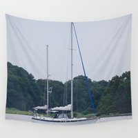 sailboat Wall Tapestries featuring Sailboat by Sarah Shanely Photography