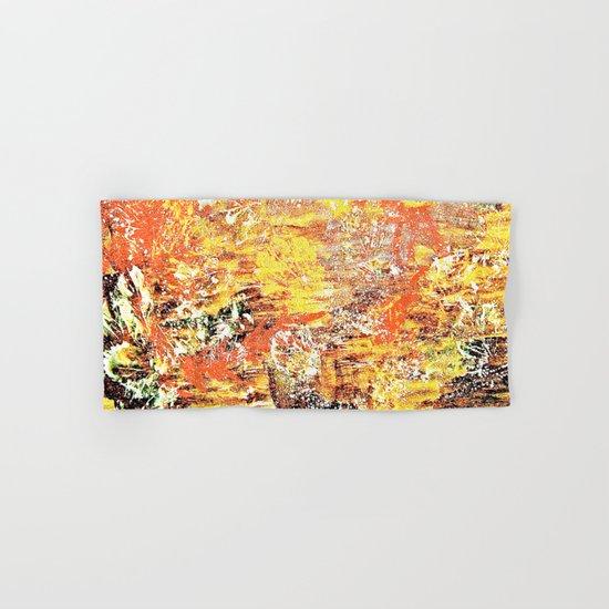 Golden Autumn Abstract Hand & Bath Towel