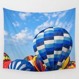 Vibrant Hot Air Balloons Wall Tapestry
