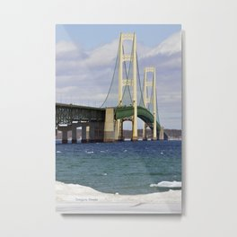 Bright Mackinac Bridge Metal Print