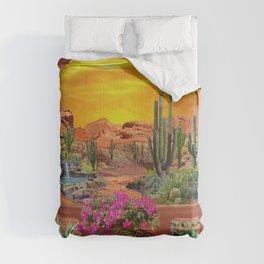 Sonoran Desert Landscape Comforters