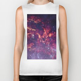 Star Field in Deep Space Biker Tank