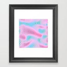 DISTORTION COLD Framed Art Print