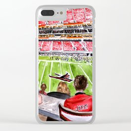 Bills vs Falcons 2017 Live Painting Clear iPhone Case