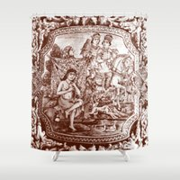 persian Shower Curtains featuring Persian Love Story by Negin Khatoun
