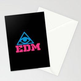 EDM rave logo Stationery Cards
