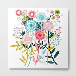 Wild Bouquet Metal Print