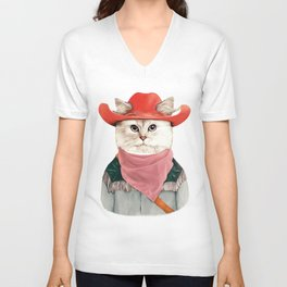 Rodeo Cat Unisex V-Neck