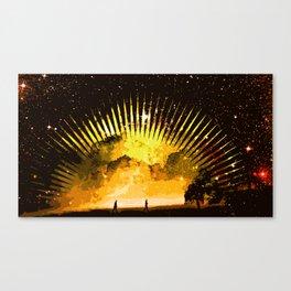 nebula beach walk Canvas Print