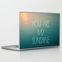you are my sunshine Laptop & iPad Skins featuring You Are My Sunshine by Alicia Bock