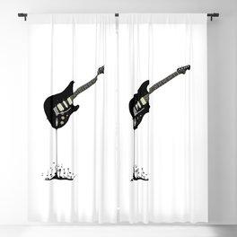 Fluid Black Guitar Blackout Curtain