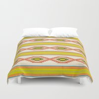 navajo Duvet Covers featuring Navajo Pattern by Nxolab