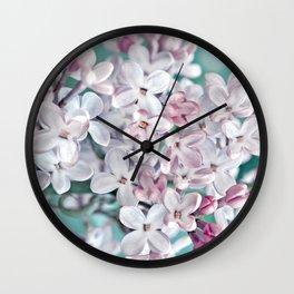 Lilac pink macro 024 Wall Clock