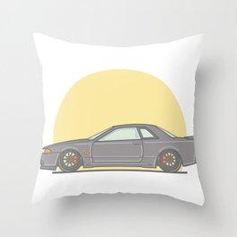 Nissan Skyline R32 Vector Illustration Throw Pillow