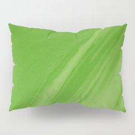 Blurred Emerald Green Wave Trajectory Pillow Sham