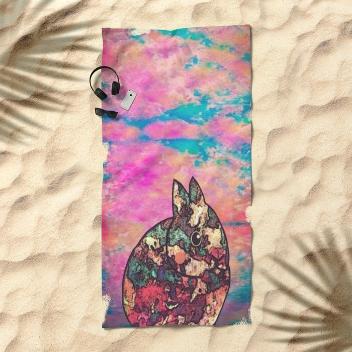 rabbit-73 Beach Towel