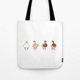 chocolate ducks Tote Bag