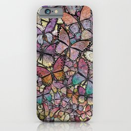 butterflies aflutter rosy pastels version iPhone Case